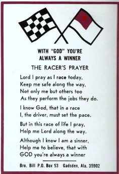 Image Detail for - The Racers  Prayer - STOCK CAR RacersReunion