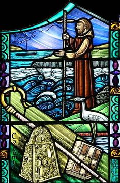 The Prayer of St. Columba--        Be a bright flame before me, O God     a guiding star above me.     Be a smooth path below me,     a kindly shepherd behind me     today, tonight, and for ever.     Alone with none but you, my God     I journey on my way;     what need I fear when you are near,     O Lord of night and day?     More secure am I within your hand     than if a multitude did round me stand.     Amen.