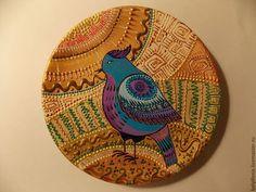 Декоративная посуда ручной работы. Ярмарка Мастеров - ручная работа. Купить Еще одна синяя птица. Handmade. Разноцветный