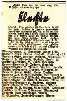 Original-Werbung/Anzeige 1926 - DROGERIEN AHLEN - BOCHOLT - COESFELD…