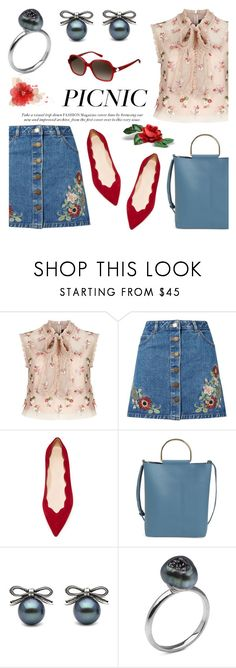 """""""Picnic in the Park"""" by littlehjewelry ❤ liked on Polyvore featuring Needle & Thread, Miss Selfridge, Club Monaco, Topshop, Pierre Cardin, picnic, contestentry, pearljewelry and littlehjewelry"""