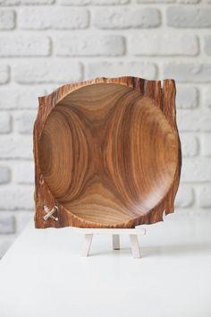 Dessert Plates Woodturning Wood Plates Cherry Wood Plate Piatto fondo in legno di ciliegio Personalized Wood Plates Rustic Wood Plates