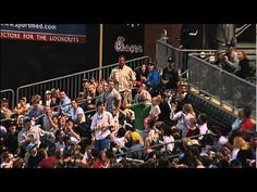 Dad Catches Foul Ball While Holding Daughter at the Lookouts
