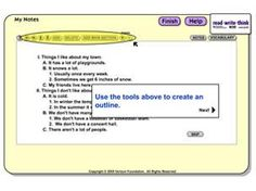 Student Interactive  ReadWriteThink Notetaker :       FOR ORGANIZING AND SUMMARIZING:      (pull out highlighted text)
