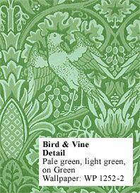 Historic Style - Bird & Vine Wallpaper by William Morris