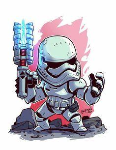 Chibi Star Wars - First Order Storm Trooper Star Wars Fan Art, Star Wars Film, Star Wars Cartoon, Cartoon Art, Cartoon Characters, Star Wars Tumblr, Star Wars Karikatur, Tableau Star Wars, Chibi Marvel