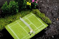 pothole gardener   Tennis, anyone?""