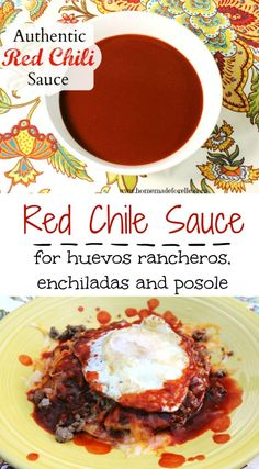 Learn how to make authentic red chile sauce from dried red chile pods. Perfect on enchiladas, huevos rancheros and posole! Huevos Rancheros, Mexican Dishes, Mexican Food Recipes, Mexican Cooking, Enchiladas, Sauce Recipes, Cooking Recipes, Easy Cooking, Red Enchilada Sauce