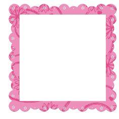 pink frame pink transparent frame with flowers elements