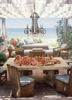Watermelons on the beach. Sounds summery to me.