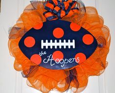 AUBURN Wreath Deco Mesh WAR EAGLE by BsHandmadeItems on Etsy, $38.00