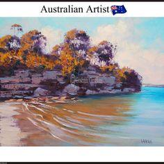 Sydney Harbour Painting manly beach Wall Art ocean seascape australian artwork