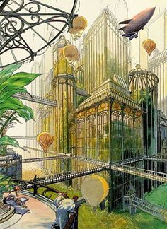 Utopian design Art by Francois Schuiten- This is amazing inspiration for design