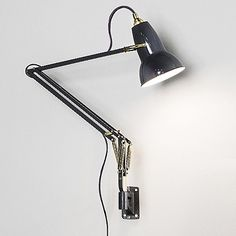 A reliable design since 1934, the Anglepoise Original 1227 Brass Wall Mount outfits the iconic task light with classy brass details and vintage color-schemes. Using the same three-spring technology patented by George Carwardine, the chrome tension points are replaced with brushed brass joints, retaining the familiar structure with an antique luster. Effortlessly flexible, the wall mount installation frees up space on desk and table tops while simultaneously providing reliable task lighting…