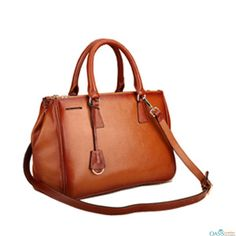 Draw attention with Classic Brown Ladies Handbag from Oasis Leather.