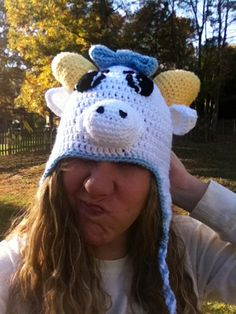 Rameses UNC Carolina Mascot Crochet Hat Tar by HookLineandStinkers