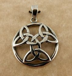 Sterling silver Large Triple Celtic Trinity by celtictreasures