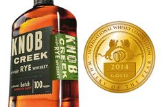 Scoring 98% at the 2014 International Whisky Competition in Chicago, Knob Creek Rye Whiskey gets the Gold Medal for the 2014 Whisky of the Year!