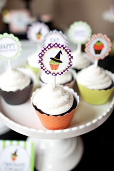 Halloween Cupcake Decorating Party for Kids | The TomKat Studio