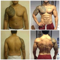 Nice v-shape body transformation.
