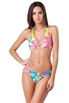 Trina Turk Kaleidoscope Floral Bikini Halter Top