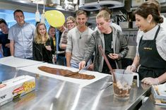 Spreading chocolate in the kitchen - experience ice cream like never before in our Chef's Table experience, only in New Zealand! Chef's Table, Auckland, New Zealand, Innovation, Ice Cream, Chocolate, Kitchen, No Churn Ice Cream, Cooking