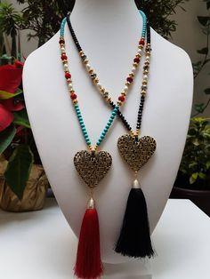 Quiero compartir lo último que he añadido a mi tienda de #etsy: Long Heart Necklace /tassel. Collar Largo de Corazón y Borla. Boho Chic. http://etsy.me/2i5Nja2 #joyeria #collar #despedidadesoltera #no #mujer #si #amoryamistad #bohonecklace #lovenecklace