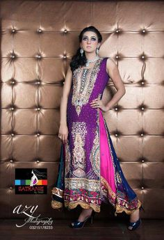 Satrangi by Saqib  New Embroidered Collection 2014 for Girls (6)