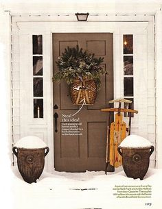 Beautiful Living : December 2010, What an absolutely beautiful color for a door.