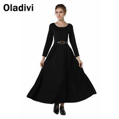 Find More Dresses Information about Women 2015 Spring Brief Full Sleeve Black Long Maxi Casual Dresses Autumn Winter Warm Vestidos Femininos Elegant Female Clothing,High Quality clothing embroidery,China clothing butler Suppliers, Cheap clothing printer from Oladivi Group - Minabell Fashion Store on Aliexpress.com