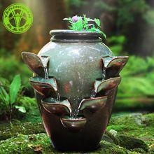 Ya clássicos sorte feng shui fonte de água características da água casa mobiliário sala de estar de estilo europeu ornamento cerâmico pêndulo(China (Mainland))
