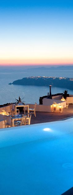 Unbelievable sunset views from the luxurious infinity pool at the Grace Santorini
