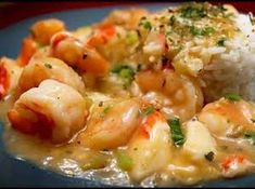 If you like Cajun food, you'll love this Shrimp and Crabmeat Etouffee recipe. This awesome dish is not to spicy as written, you may want to adjust the seasonings some to. Crab Recipes, Chicken Recipes, Shrimp Recipes With Rice, Shrimp And Rice Casserole, Lobster Recipes, Chicken Casserole, Etouffee Recipe, Shrimp Etouffee, Shrimp Dishes