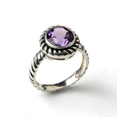 Rope Stone Ring #Amethyst design inspiration on Fab.  #rings #jewelry