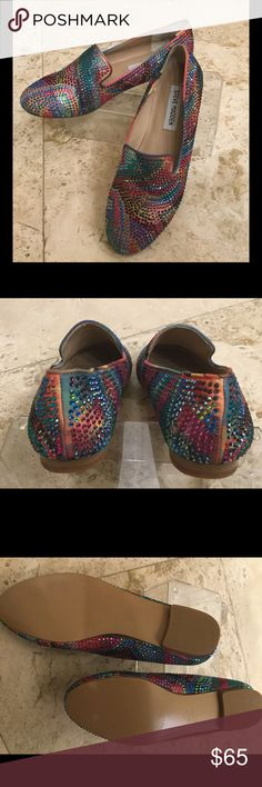 Steve Madden sparkle flats New no tags so colorful all sparkle absolutely fabulous with jeans Steve Madden Shoes Flats & Loafers