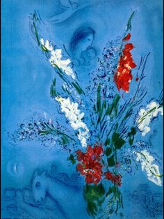 The Gladiolas - Marc Chagall - 1967 - lithography