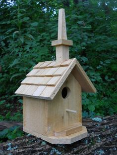 Church birdhouse, rustic chapel,folk art primitives