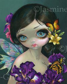 FLOWER BUTTERFLY FAIRY IRIS ENCHANTMENT - JASMINE BECKET-GRIFFITH