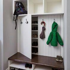 Coat Closet Organization, Closet Storage, Home Organization, Garage Storage, Hidden Storage, Coat And Shoe Storage, Garage Hooks, Shoe Racks For Closets, Shoe Storage Cabinet With Doors