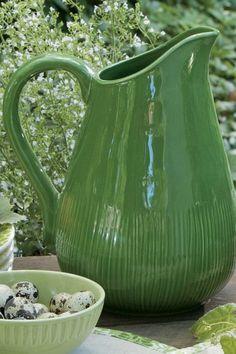 Pretty green pitcher.