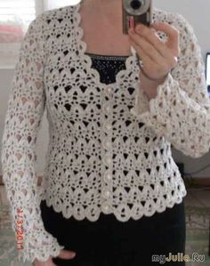 Crochet U. Cardigan Pattern, Ladies Womens Church Office Sweater Pattern with V-Neck & Round Neck Diy Crochet Cardigan, Crochet Bolero Pattern, Black Crochet Dress, Crochet Coat, Crochet Jacket, Crochet Clothes, Ravelry, Church Office, Jackets Fashion