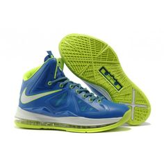 sports shoes e070f 9d813 Nike LeBron 10 iD Sprite Blue Green White G07019 All Lebron James Shoes,  Lebron Shoes