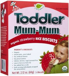 Mum Mum for Toddlers Rice Biscuits  Organic Strawberry  6 pk >>> Click image for more details.