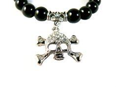 Crystal Crossbone Onyx Rocker