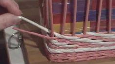 Плетение узора веревочкой