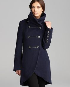 Military-Inspired: Mackage Wool Diana Military Coat ($630) Love this. I have a version of this but without the tulip front.