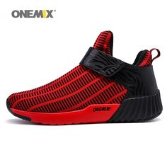 ONEMIX Men Running Shoes for Women High Top Walking Sneakers Trail Sports  Outdoor Red Nice Trends 759e30a6ee5b