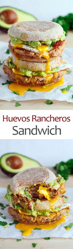 Huevos Rancheros Breakfast Sandwich (Breakfast Sandwich Recipes)