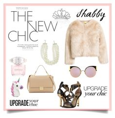 """""""New Chic🦄"""" by notjuliette ❤ liked on Polyvore featuring Punch, Kenneth Jay Lane, Versace and Fendi"""