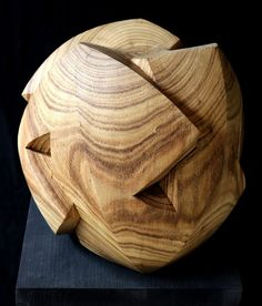 """Buy """"Knot II"""", Wood sculpture by Nikolay Martinov on Artfinder. Discover thousands of other original paintings, prints, sculptures and photography from independent artists. Lotus Sculpture, Geometric Sculpture, Abstract Sculpture, Wood Sculpture, Abstract Art, Original Paintings, Original Art, Small Sculptures, Artist Gallery"""